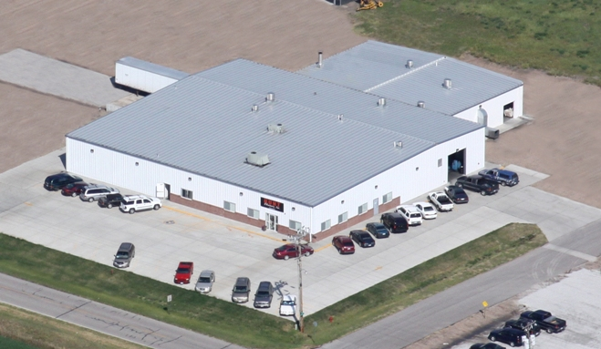 Aerial View of Hunt Cleaners